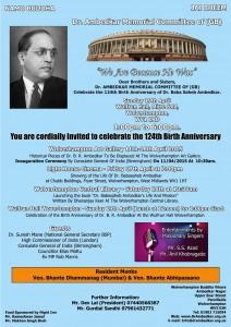 Dr Ambedkar 124th Birth Anniversary Events April 2015
