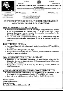 One Week Event April 2015